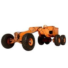 Adams Motor Grader Vintage Toy Pressed Metal
