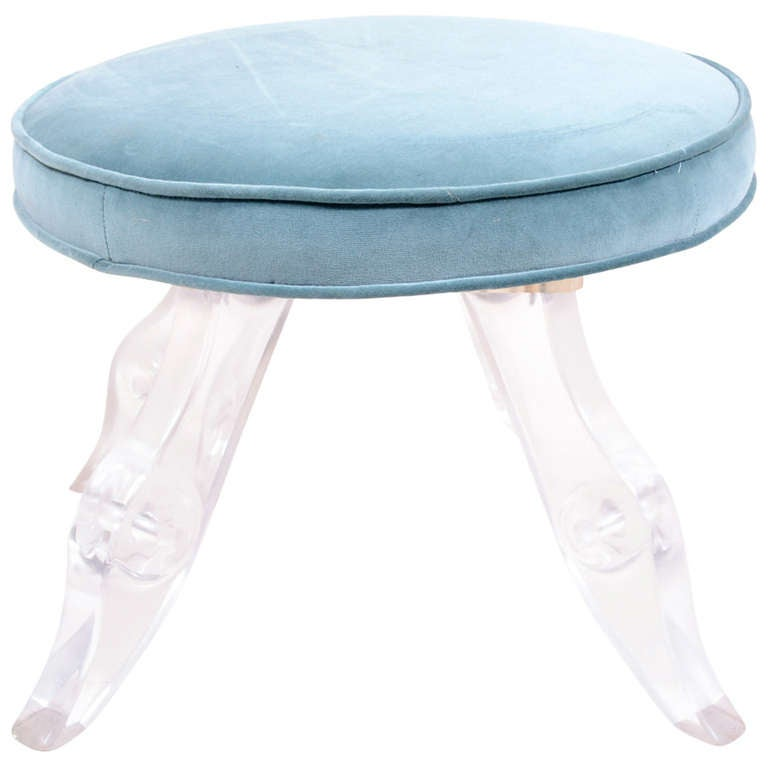 Lucite Vanity Stool At 1stdibs