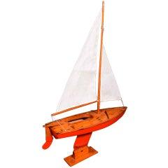 Vintage Sail Boat Model