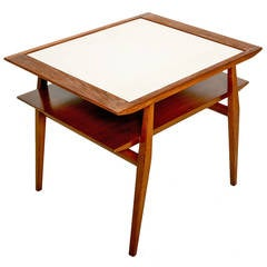 Walnut Side Table in the Manner of Milo Baughman