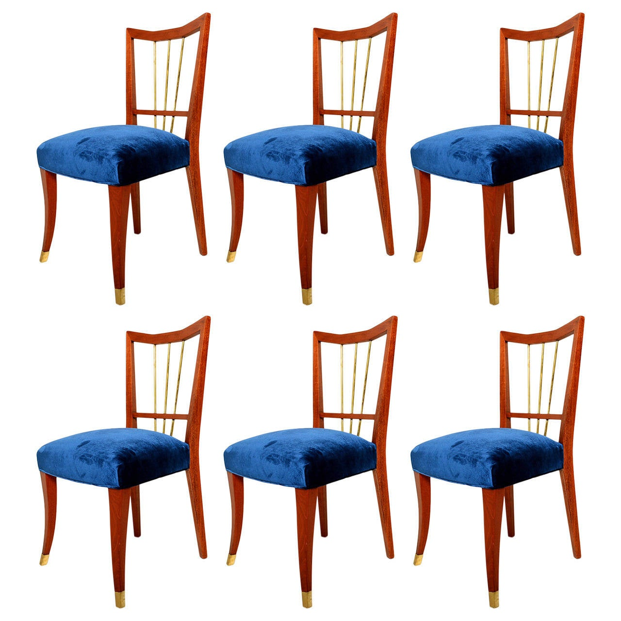 Arturo Pani Set Of Six Dining Chairs At 1stdibs