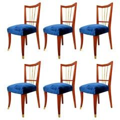 Arturo Pani Set of Six Dining Chairs