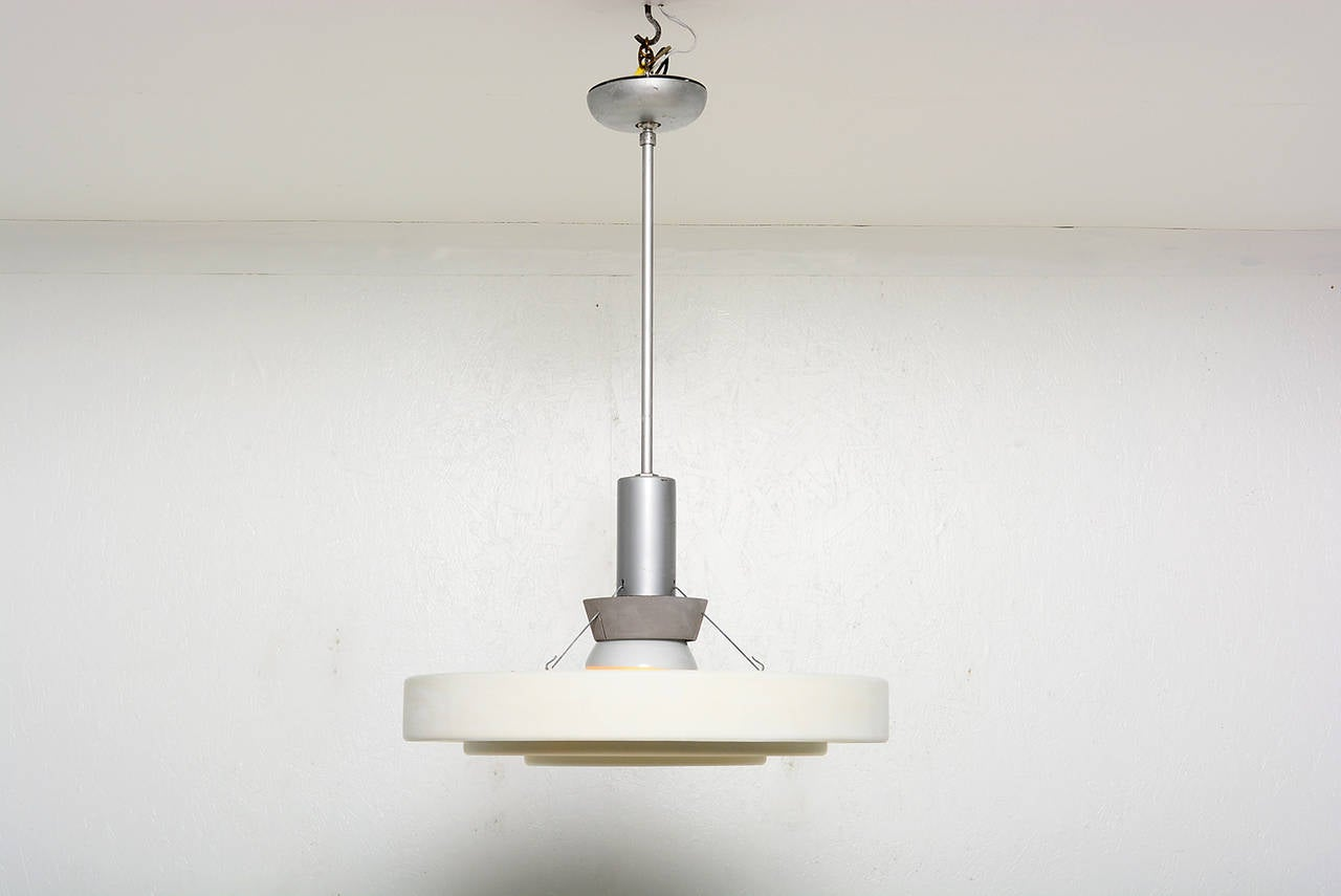 diffused lighting fixtures. For Your Consideration Hanging Lamps With Aluminum Shades Diffusing The Light. Original Vintage Condition. Diffused Lighting Fixtures M