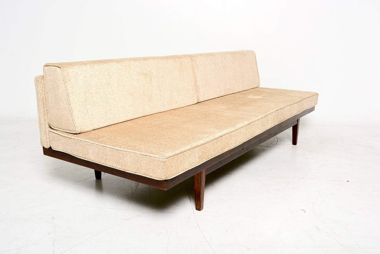 Mexican Modernist Daybed Solid Mahogany Wood At 1stdibs