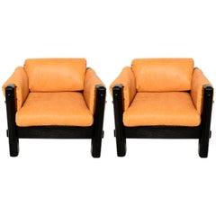 Mid Century Modern Pair of Brazilian Armchairs