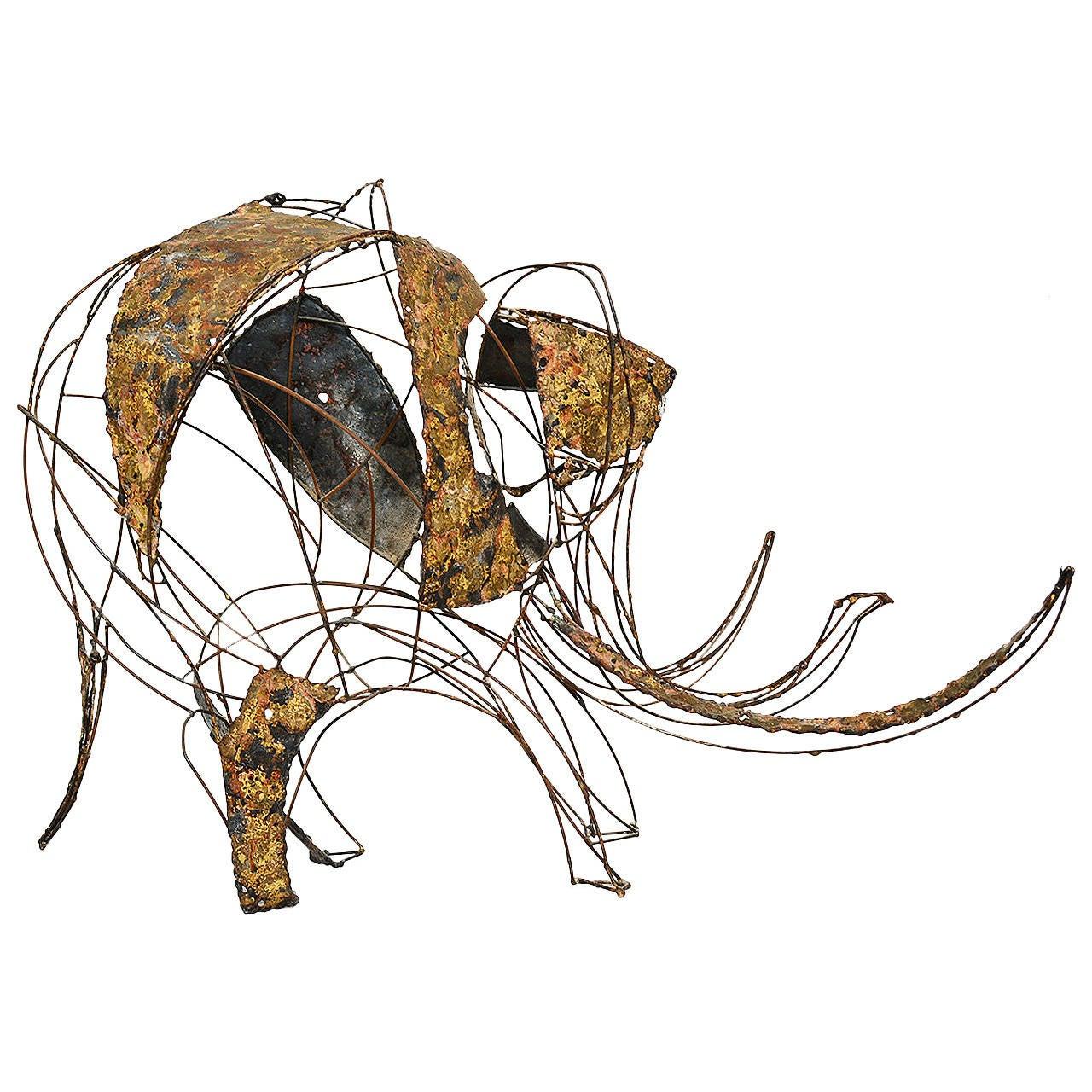 Brutalist Elephant Sculpture John Jagger For Sale