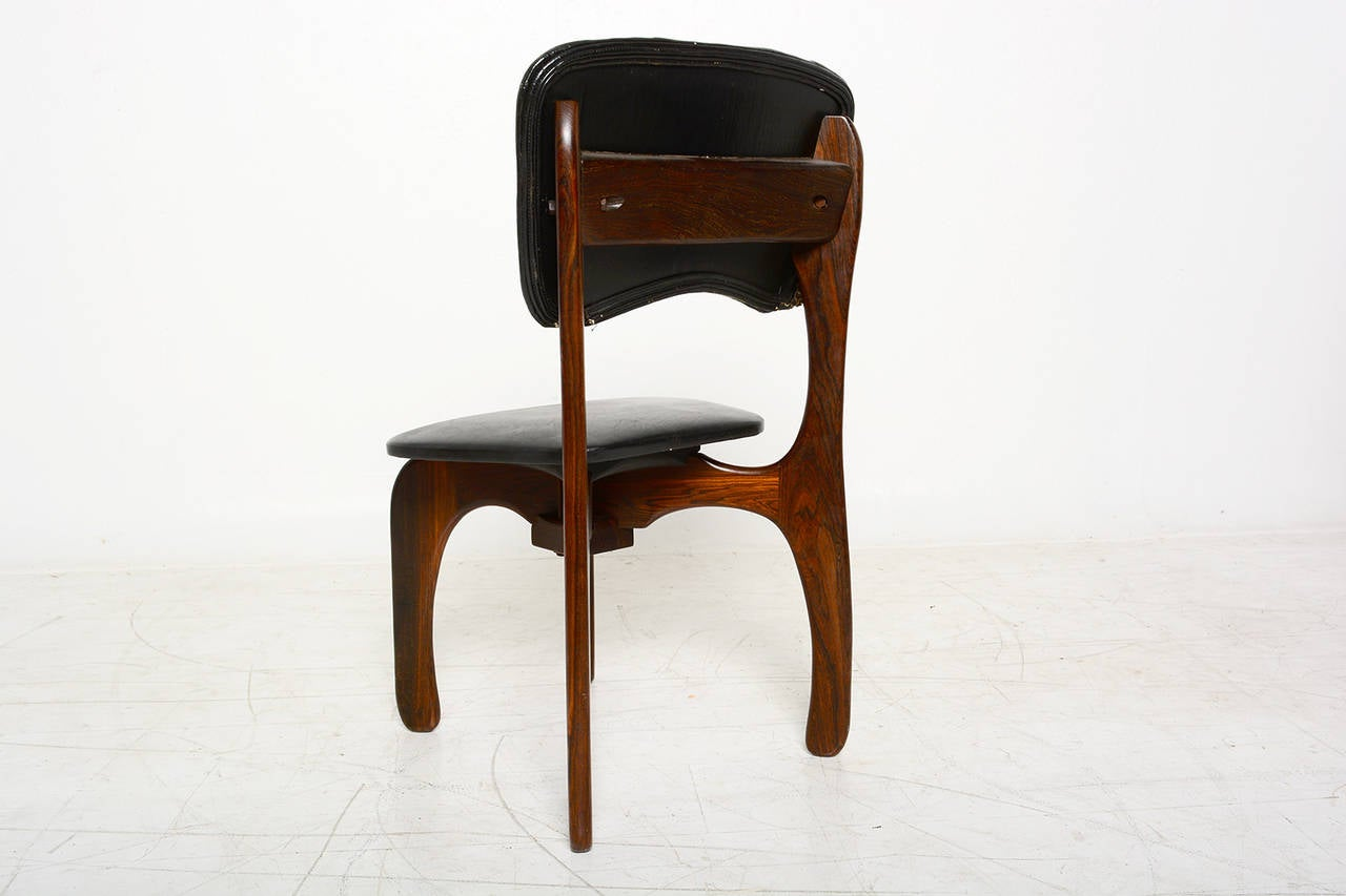 Pair Of Don Shoemaker Cocobolo Chairs At 1stdibs