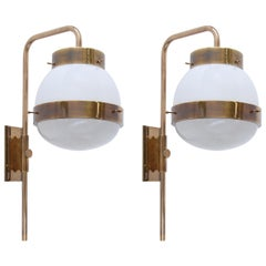 "Sergio Mazza for Artemide ""Delta"" Wall Fixtures"