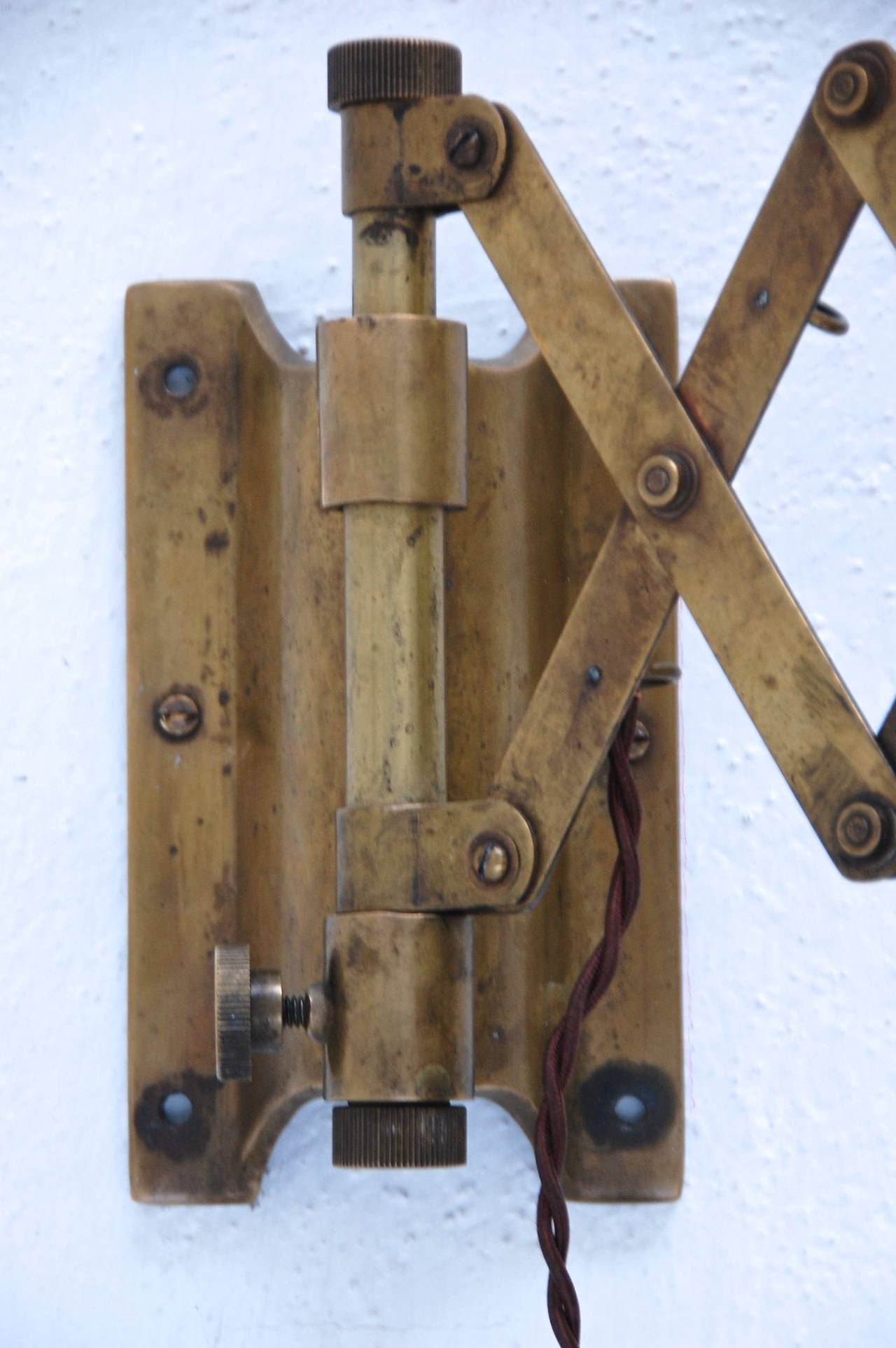 1930s Industrial Scissor Sconces at 1stdibs