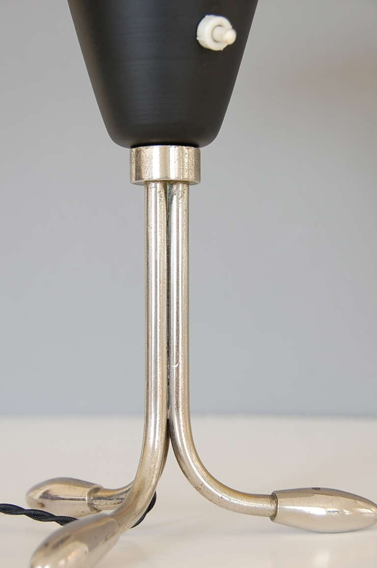 Aluminum 1950s American Table Lamp For Sale