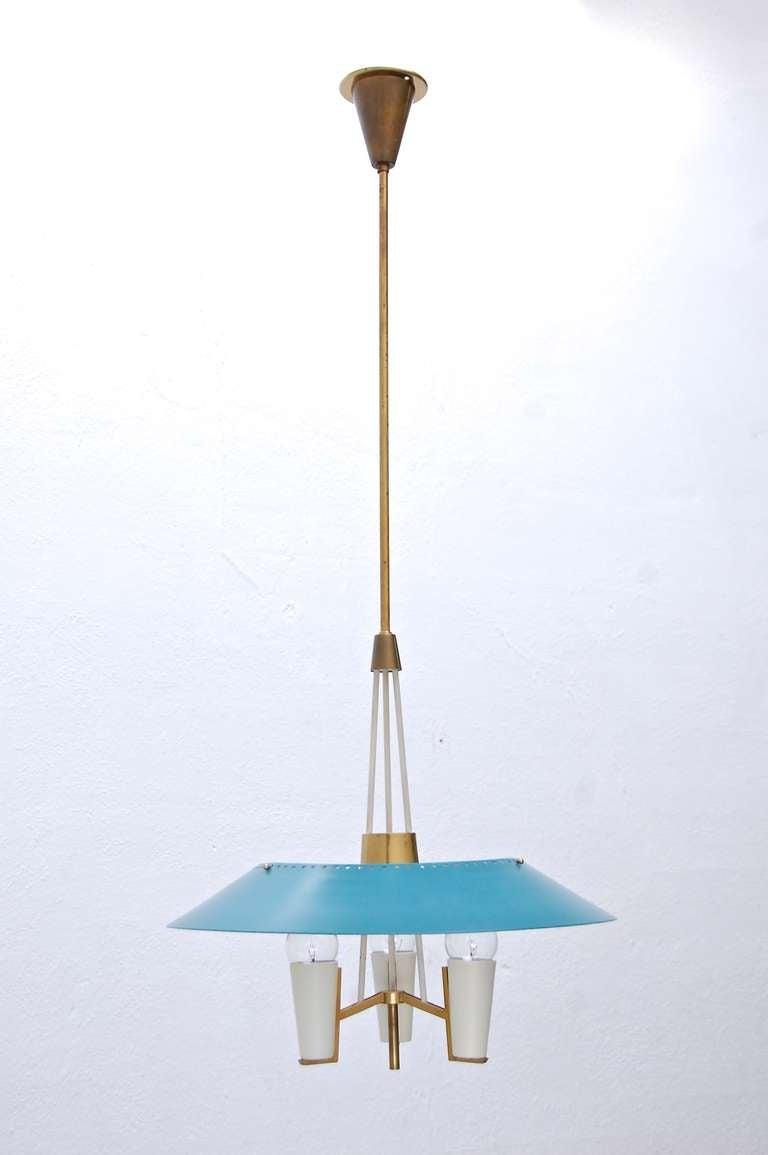 1950 S Italian Pendant Light At 1stdibs