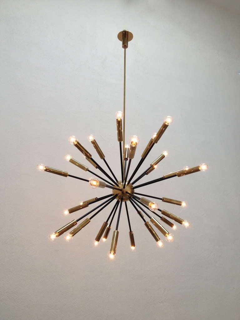 Elliptical sputnik chandelier at 1stdibs for Sputnik chandelier