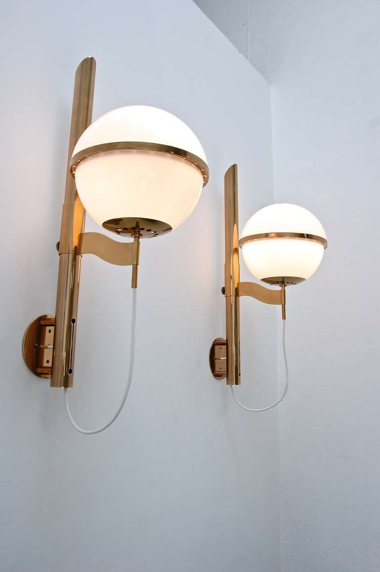 Mid-20th Century Large Artemide Wall Lamps For Sale