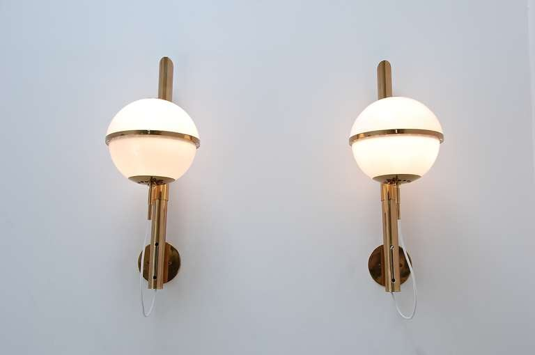 Italian Large Artemide Wall Lamps For Sale