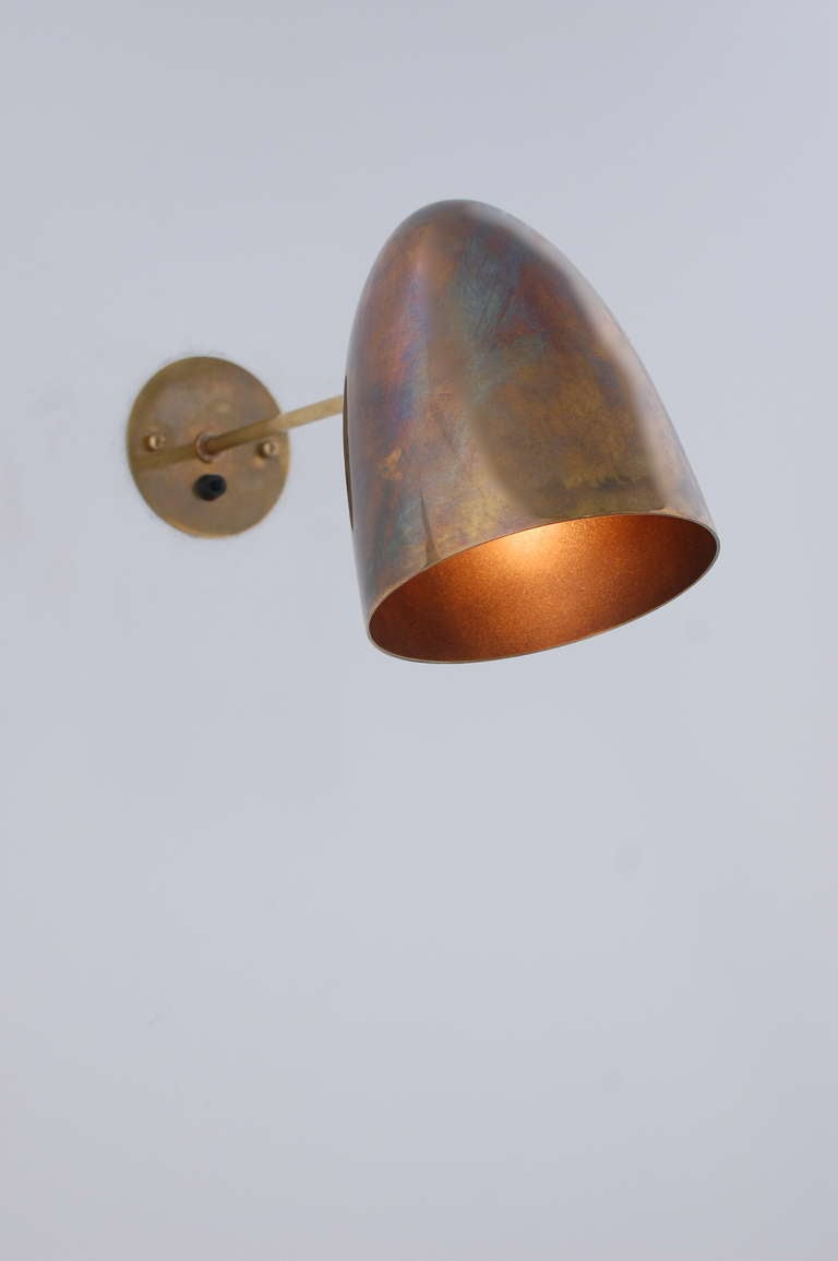 Pivot Brass Sconces At 1stdibs