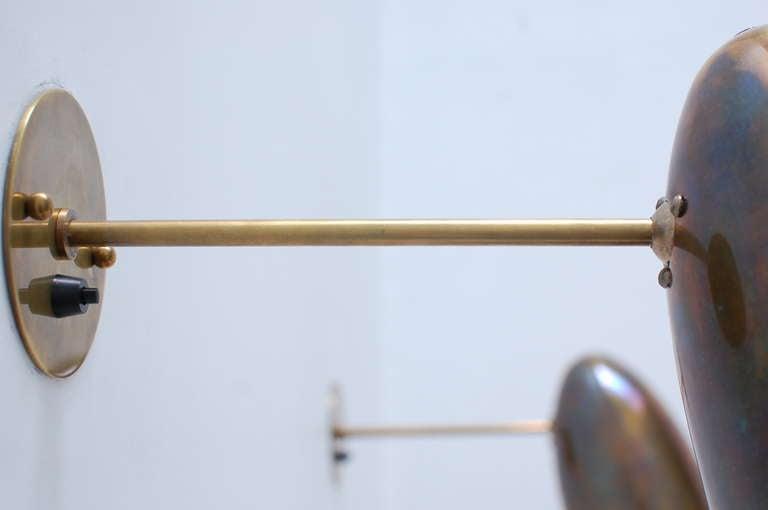 Pivot Brass Sconces For Sale 1