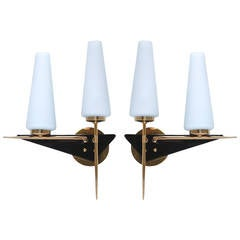 Pair of French Modernist Sconces