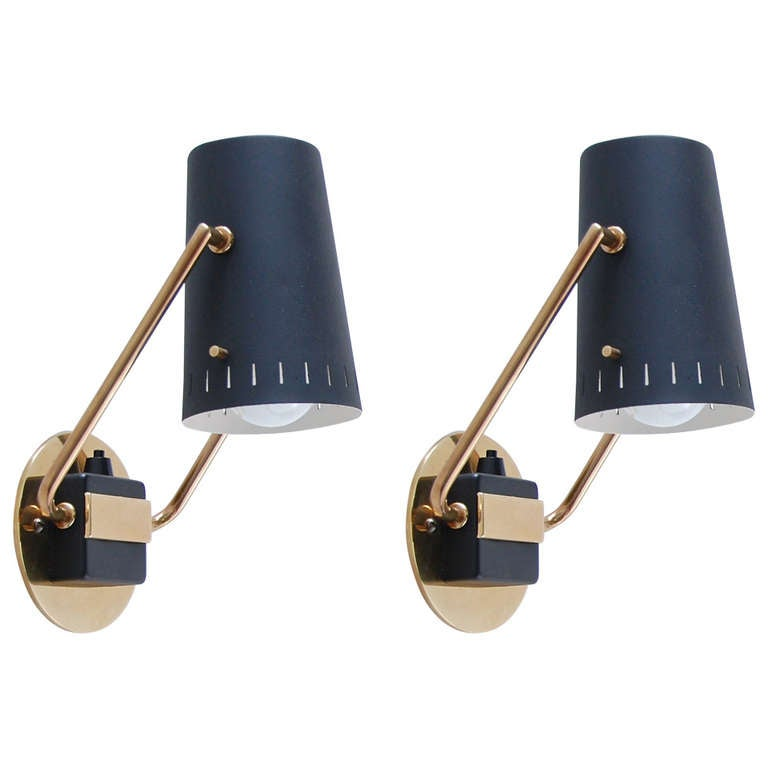 German Articulated Reading Sconces at 1stdibs