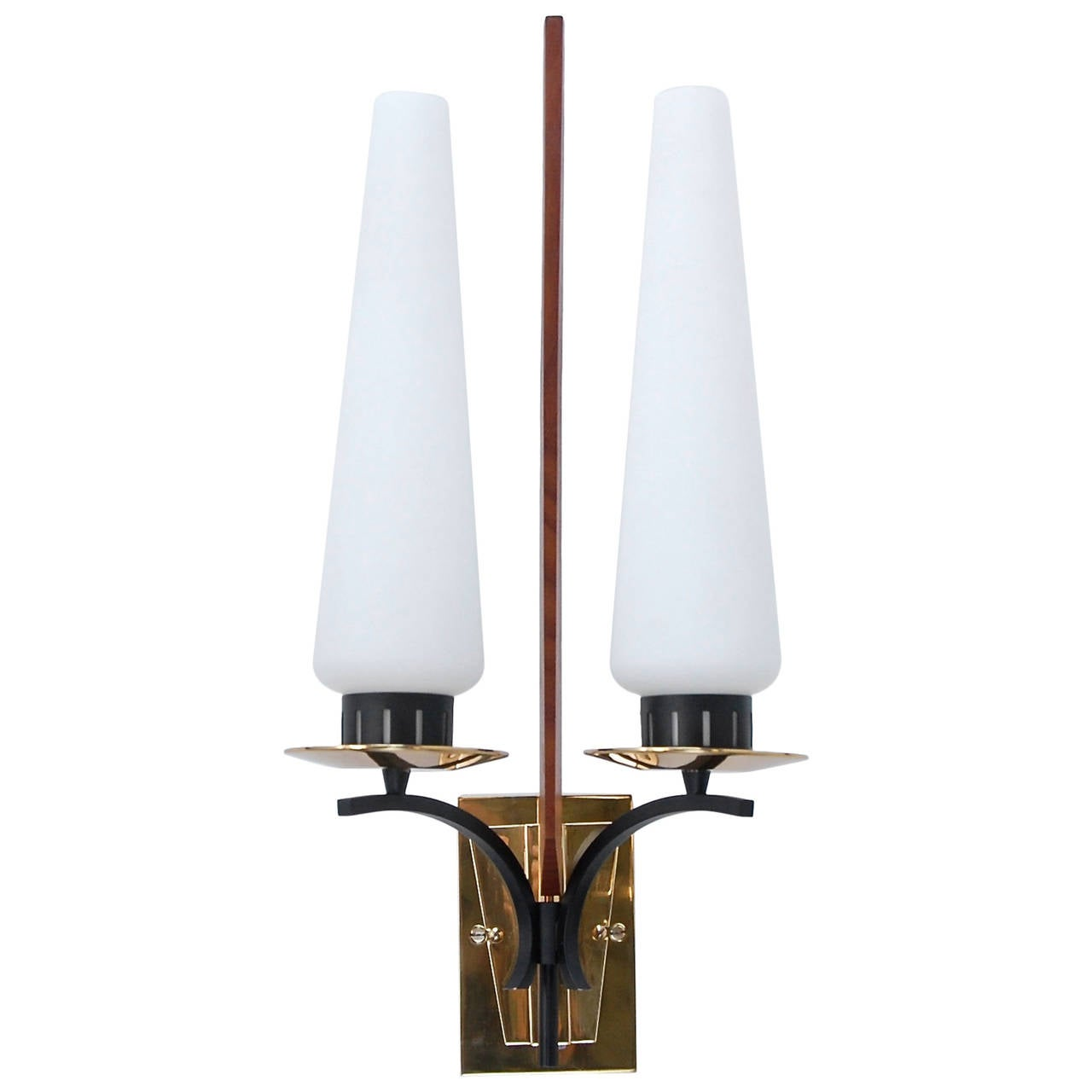 Modern Wall Sconces Italian : Large Italian Mid-Century Sconce For Sale at 1stdibs