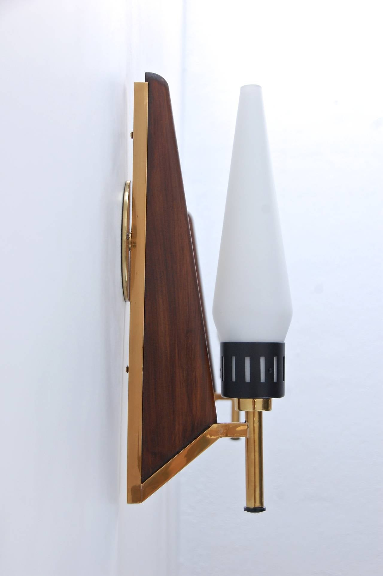 Wall Sconces Mid Century : Mid-Century Teak Sconces at 1stdibs