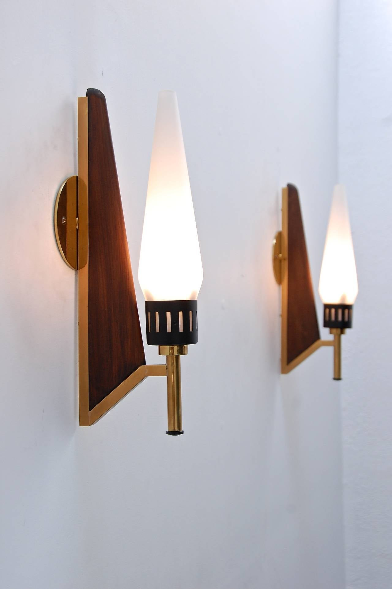 Mid-Century Teak Sconces at 1stdibs