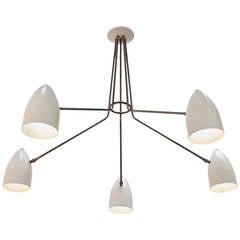 LU Five-Arm Flush Mount Chandelier by Lumfardo Luminaires