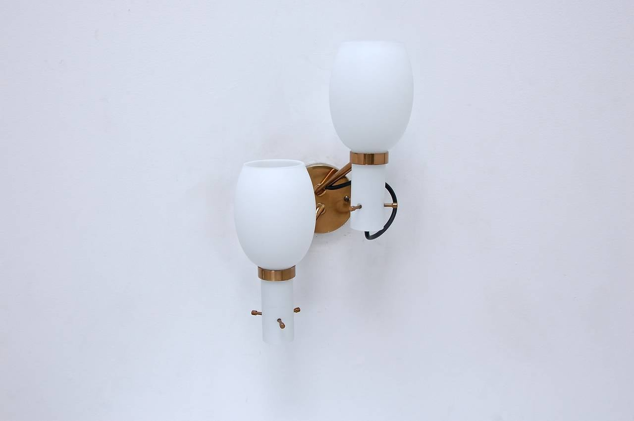 Wall Sconces by Stilnovo In Excellent Condition For Sale In Los Angeles, CA