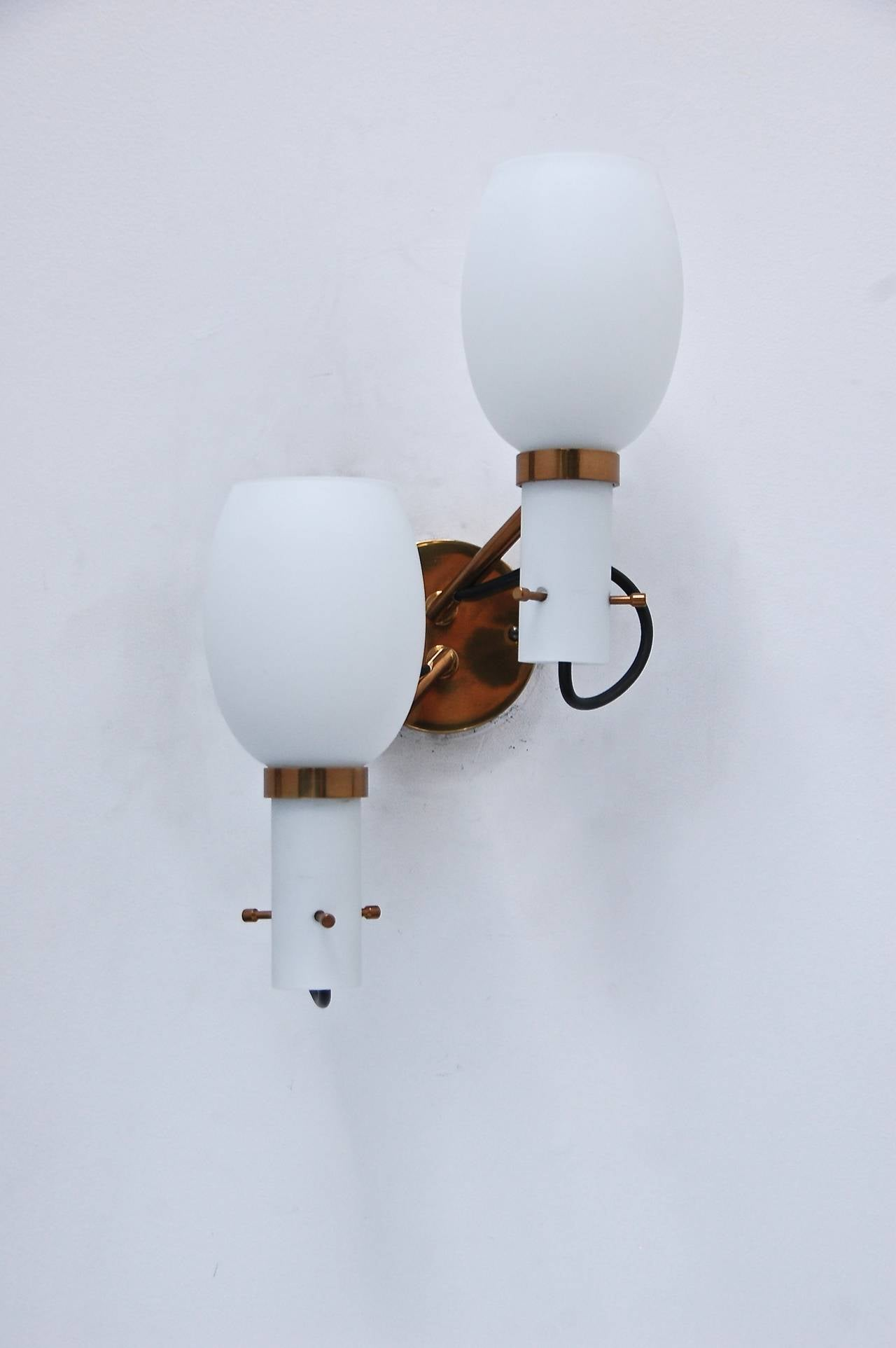 Mid-20th Century Wall Sconces by Stilnovo For Sale