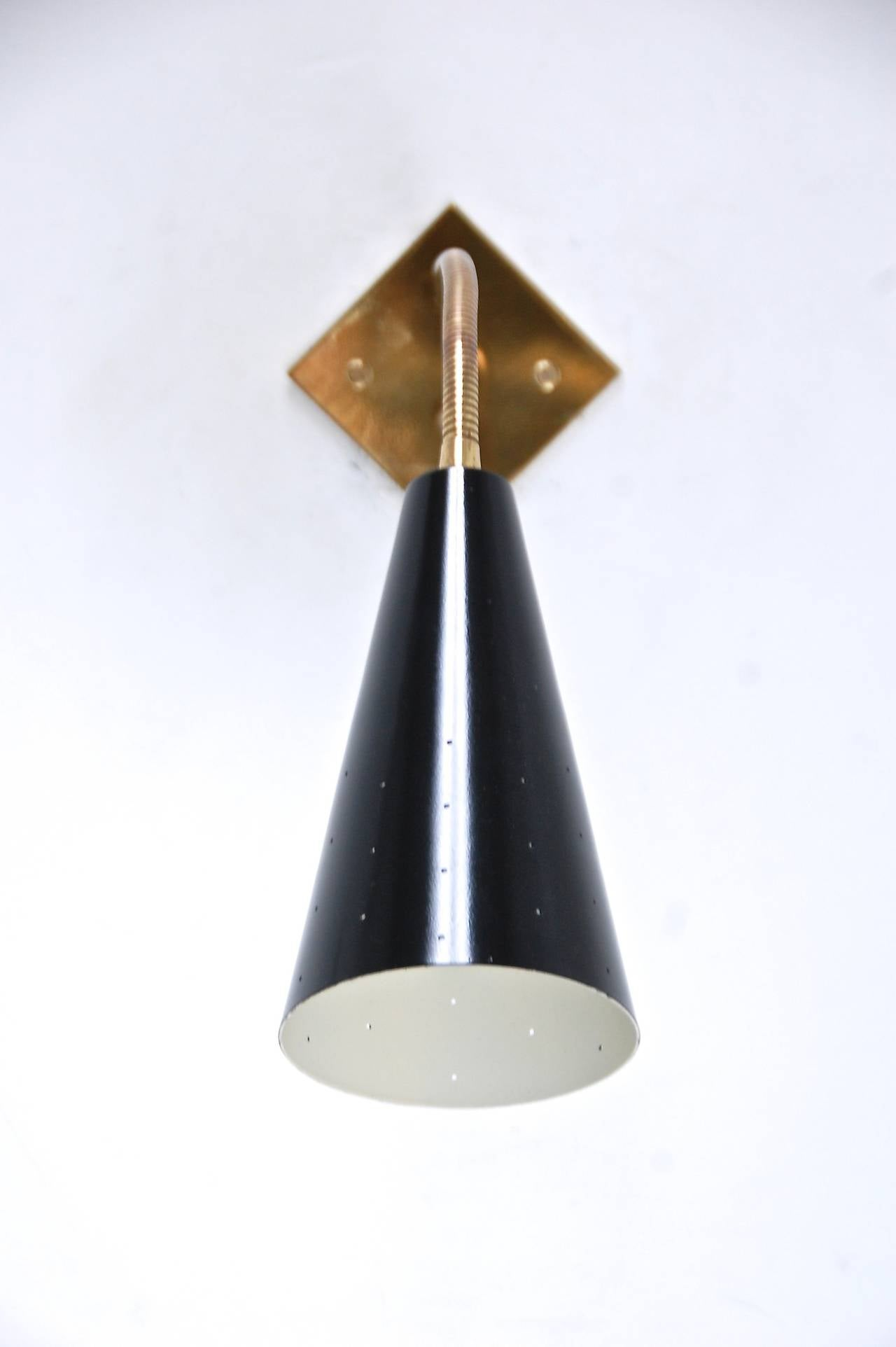 Gooseneck sconces at 1stdibs - Gooseneck wall sconce ...