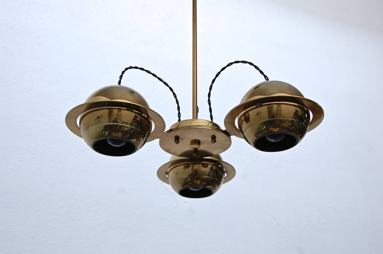Mid-20th Century Reggiani Attributed Small Chandelier For Sale
