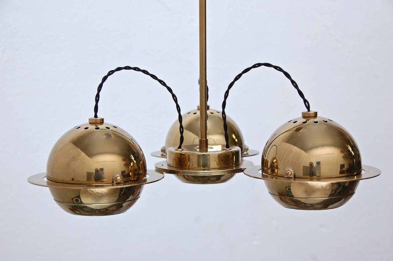 Italian Reggiani Attributed Small Chandelier For Sale