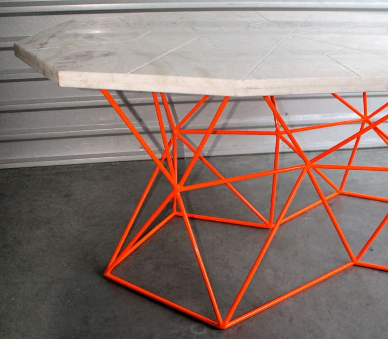 Asymmetrical Marble Dining Table Or Desk By Alberto Vieyra