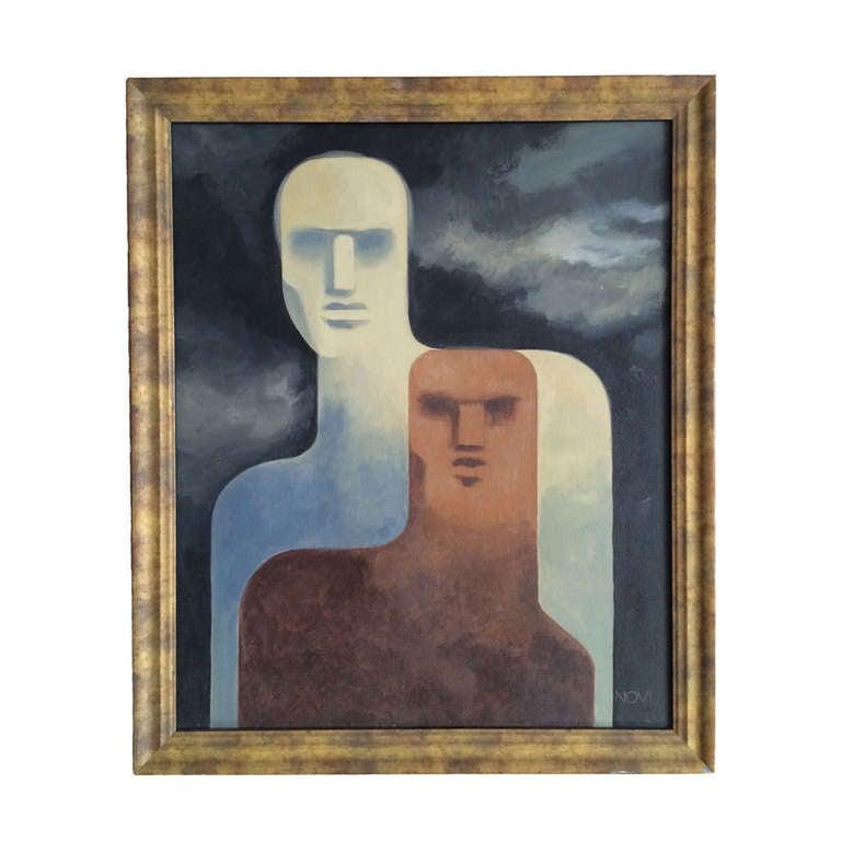 Giancarlo Novi Acrylic On Canvas Painting Mexico City Circa 1968 At 1stdibs