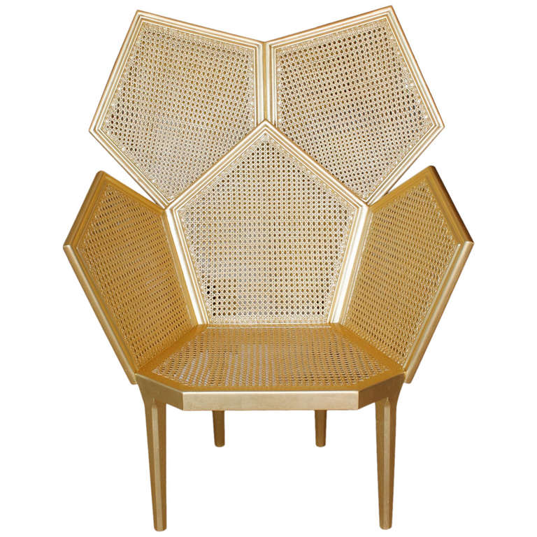 Quot Lui 5 Quot Gold Leaf Armchair By Philippe Bestenheider For
