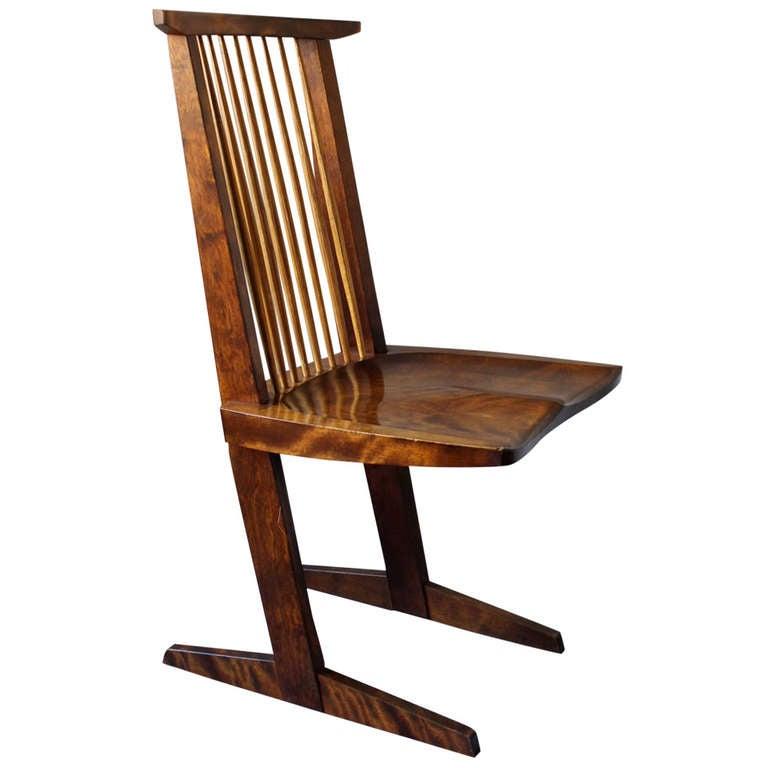 Original Black Walnut Conoid Chair By George Nakashima
