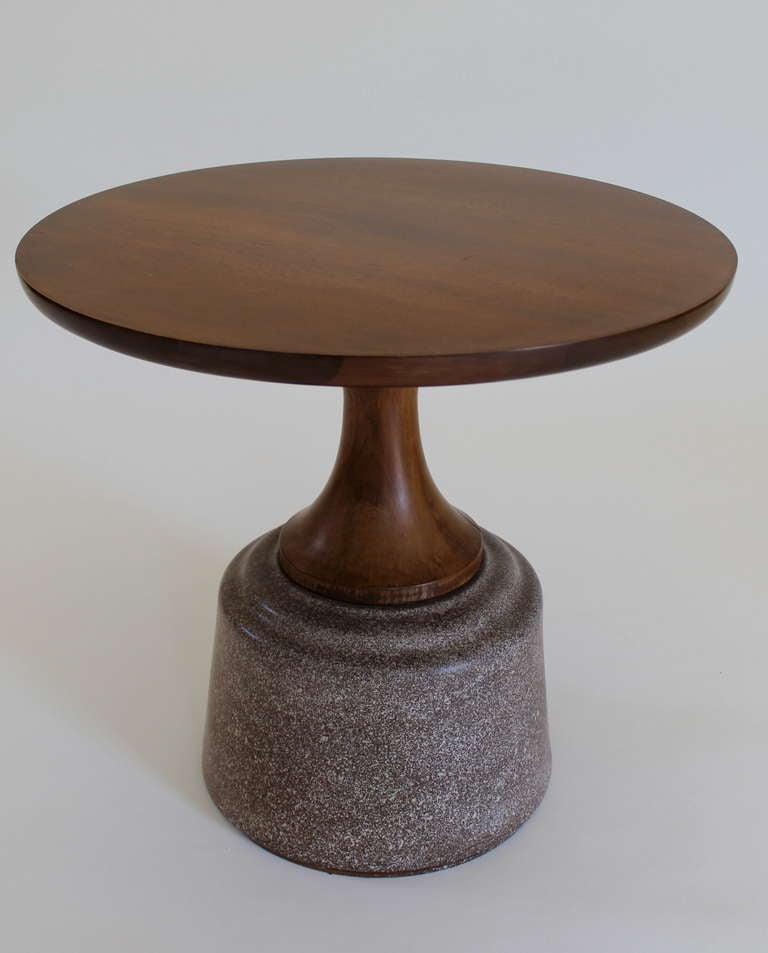 California modern ceramic base side table at 1stdibs for Side table base