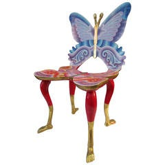Vintage Pedro Friedeberg Butterfly and Foot Chair, Full-Size, Mexico City,1973