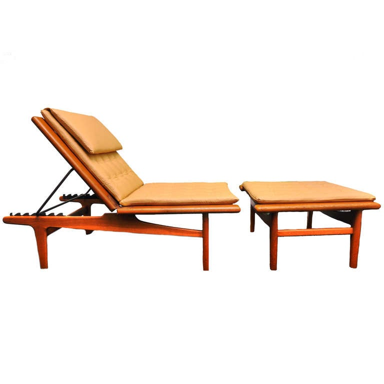 outstanding hans wegner lounge chair daybed padouk wood. Black Bedroom Furniture Sets. Home Design Ideas
