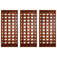 Set of Three Mexican Modernist Architectural Salvage Screens, circa 1960