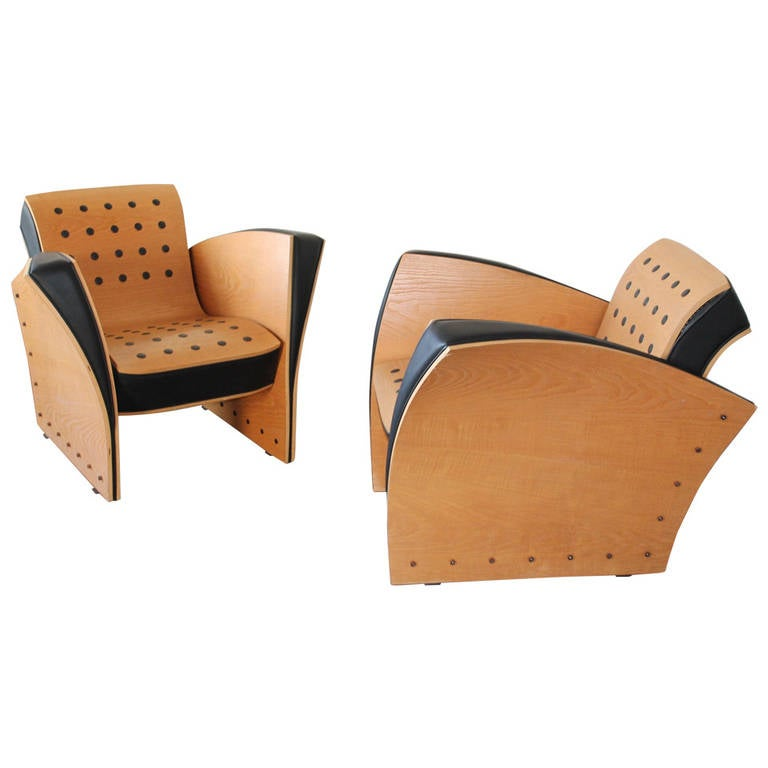 ultra rare pair fauteuil crust chairs by ron arad 1988 at 1stdibs. Black Bedroom Furniture Sets. Home Design Ideas