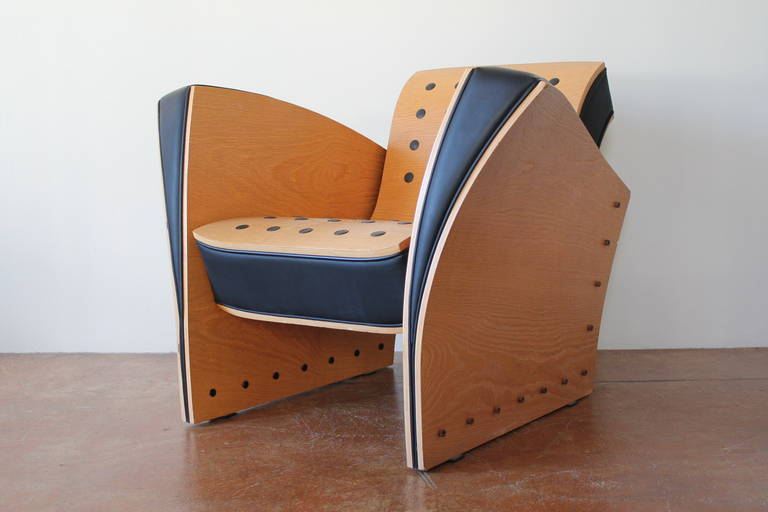 Ultra Rare Pair Fauteuil Crust Chairs By Ron Arad 1988
