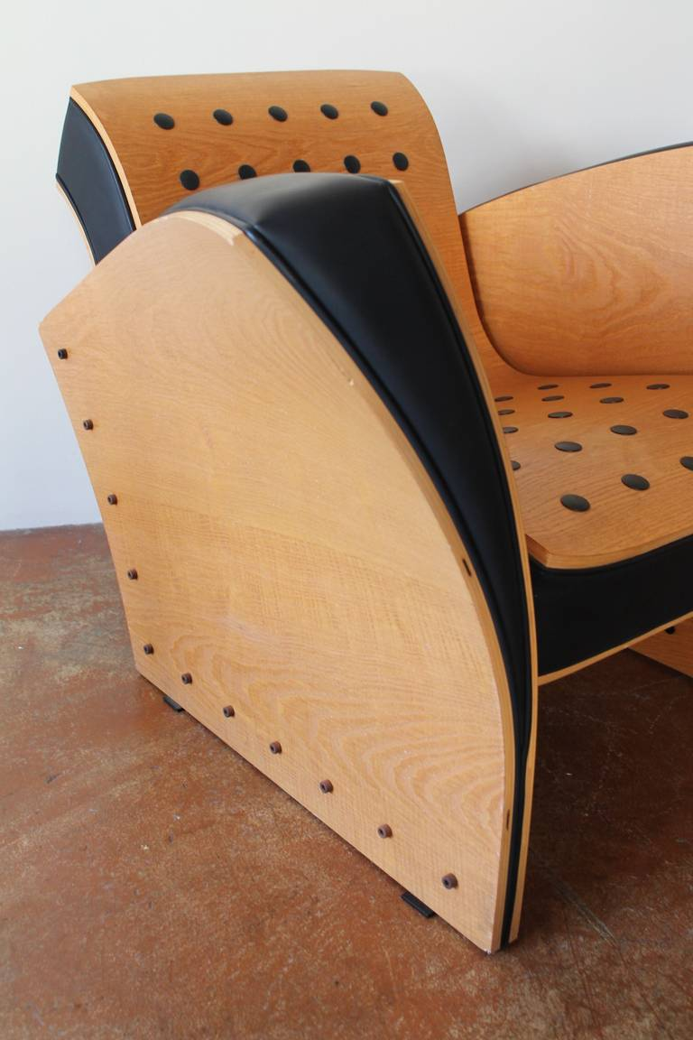 ultra rare pair fauteuil crust chairs by ron arad 1988 for sale at 1stdibs. Black Bedroom Furniture Sets. Home Design Ideas