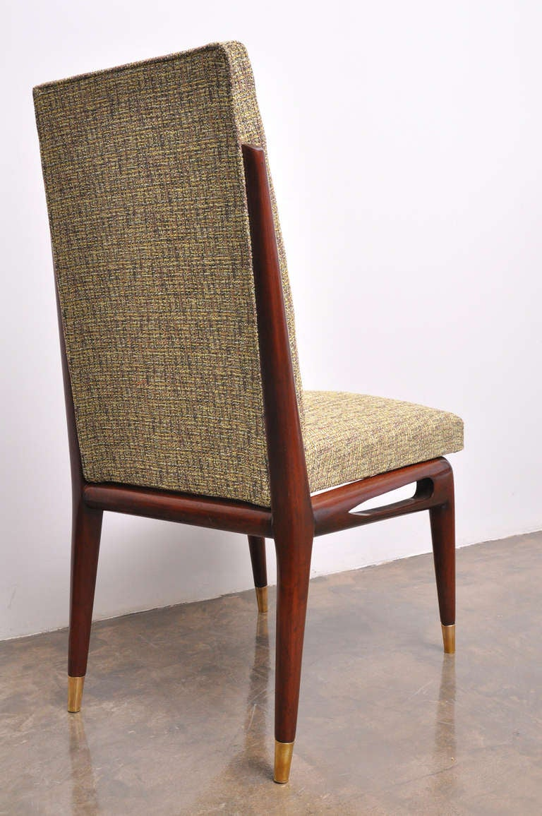 Unusual set of six dining chairs by eugenio escudero