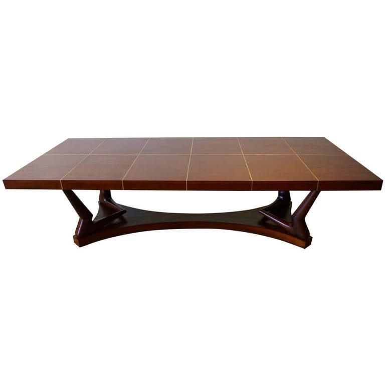 eugenio escudero 9ft long sculptural mahogany dining table mexico