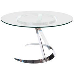 Pedestal table designed by Boris Tabacoff.