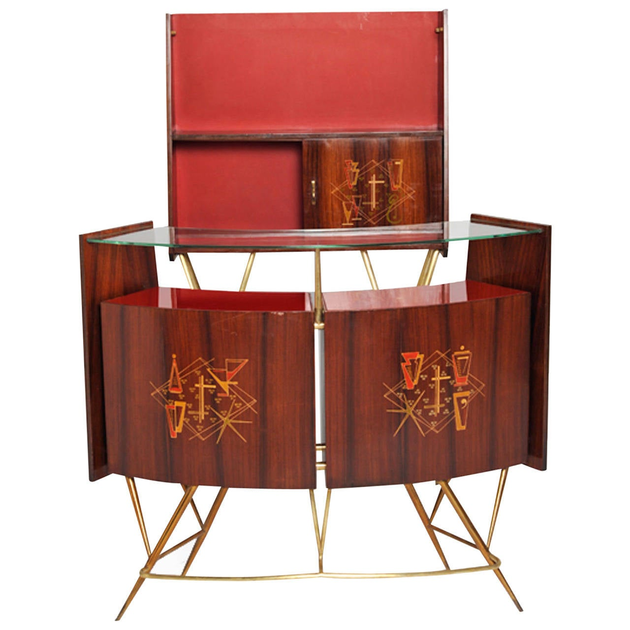 Dry bar italy 1950 s at 1stdibs for Home dry bar furniture