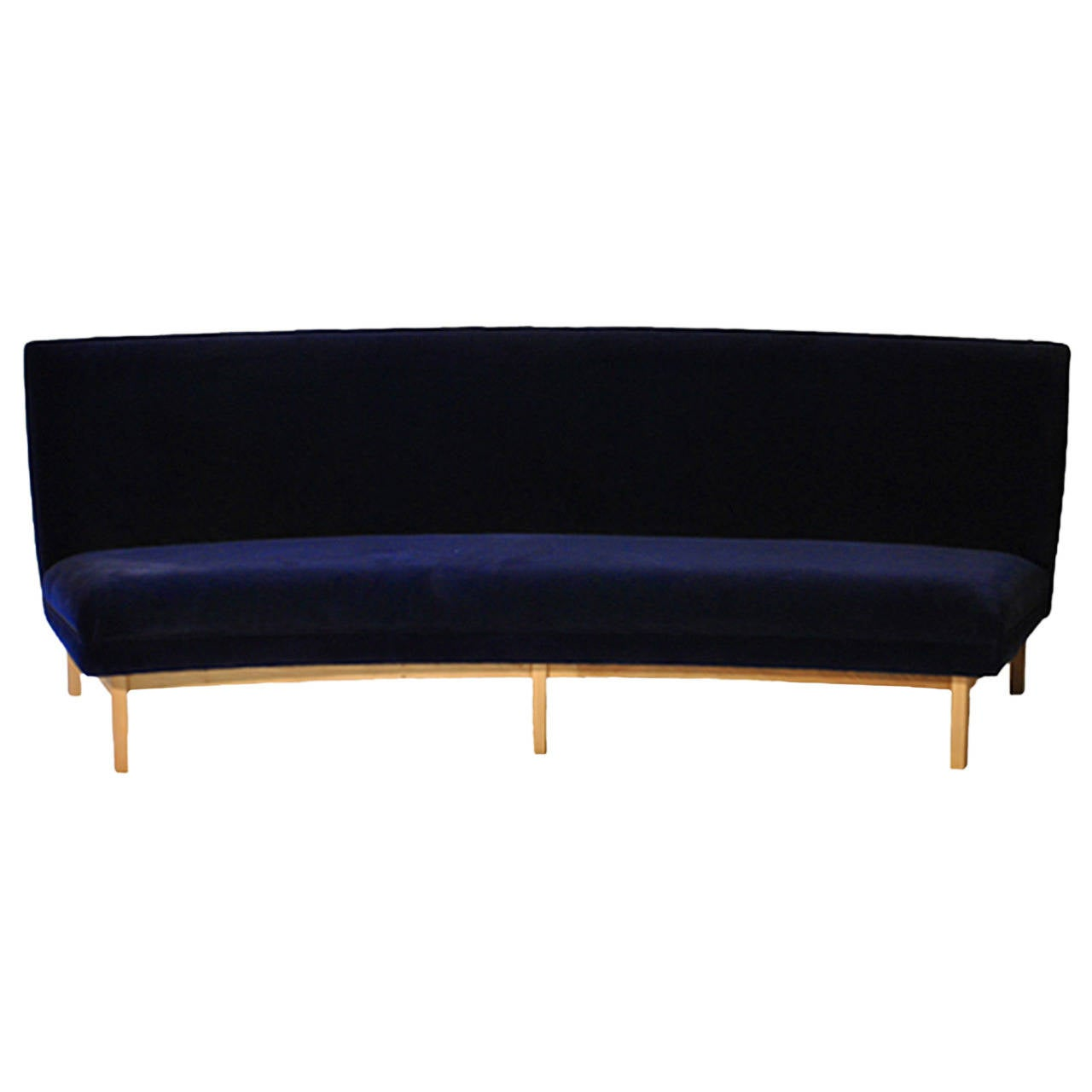 Four seat semicircular sofa at 1stdibs