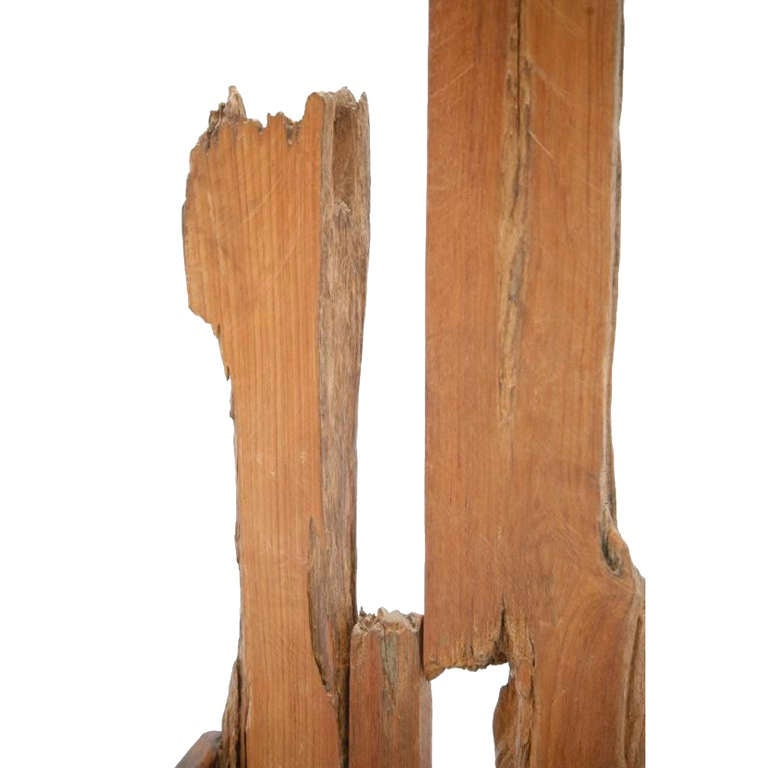 French Wooden Sculpture with Chair Shape from the 1940s In Excellent Condition For Sale In Madrid, ES