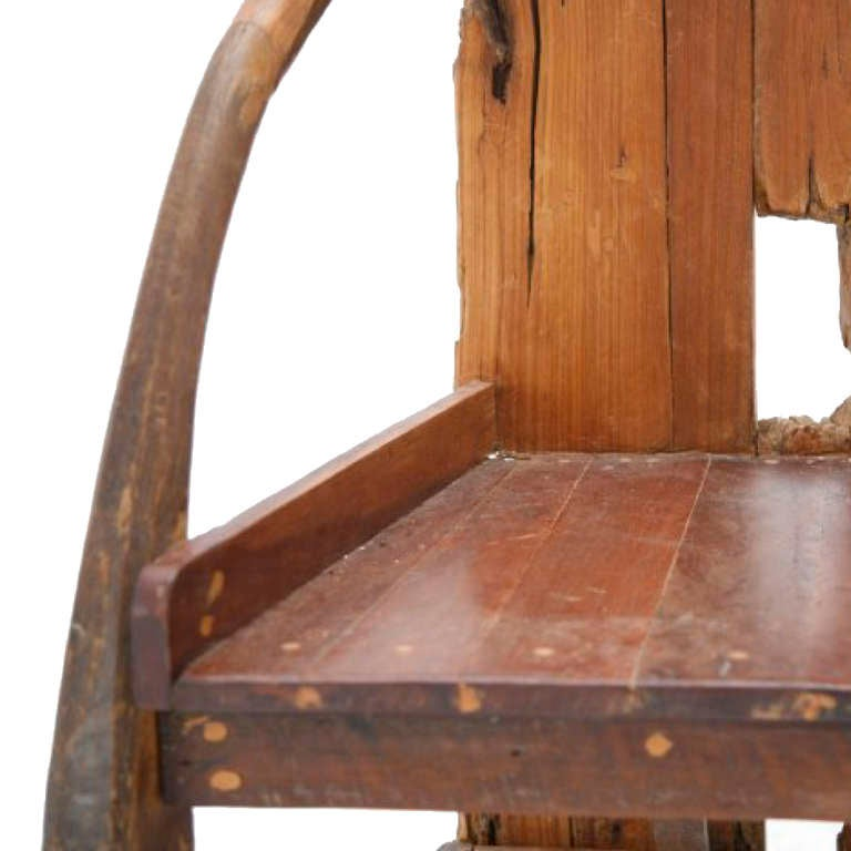 French Wooden Sculpture with Chair Shape from the 1940s For Sale 1