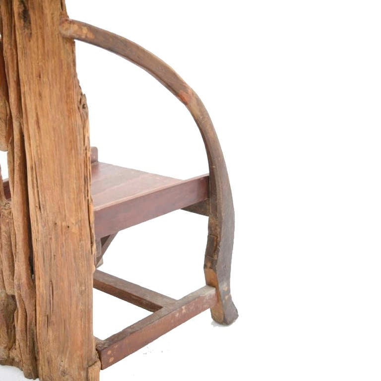 French Wooden Sculpture with Chair Shape from the 1940s For Sale 4